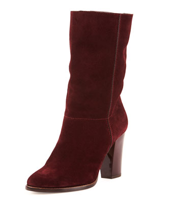 Music Suede Ankle Boot, Ruby
