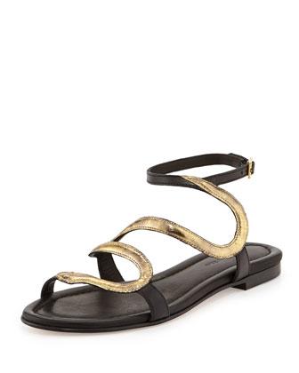 Manila Serpent Flat Sandal