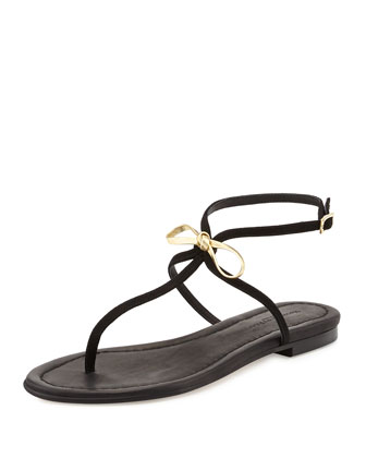 Tahiti Bow Thong Sandal, Gold/Black