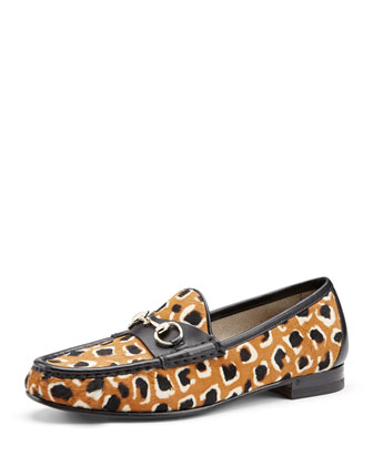60th Anniversary Leopard-Print Calf Hair Loafer