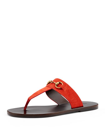 Horsebit Thong Slide Sandal, Oxidation