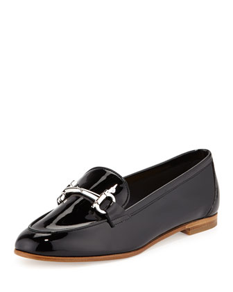 My Informal Patent Gancini Loafer, Nero