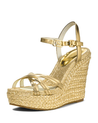 Cicely Metallic Wedge Sandal