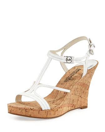 Cicely Wedge Sandal, White