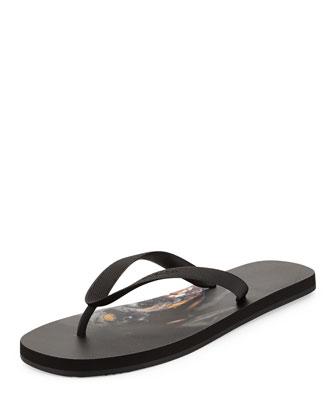 Rottweiler Rubber Thong Sandal