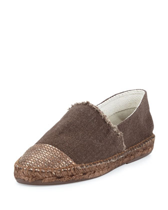 Patricia Cap-Toe Espadrille, Brown