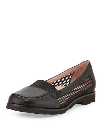 Jac Mesh and Leather Loafer, Black