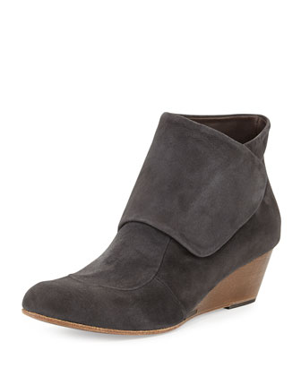 Kiera Suede Wedge Ankle Boot