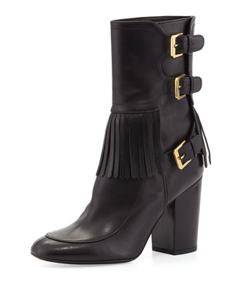 Merli Frangie Triple-Buckle Boot