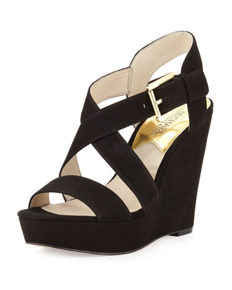 Giovanna Suede Wedge Sandal