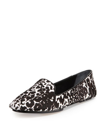 Fierce Calf Hair Loafer, Leopard