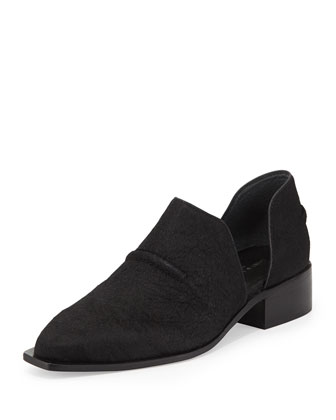 Marvel Pony Hair d'Orsay Loafer, Black