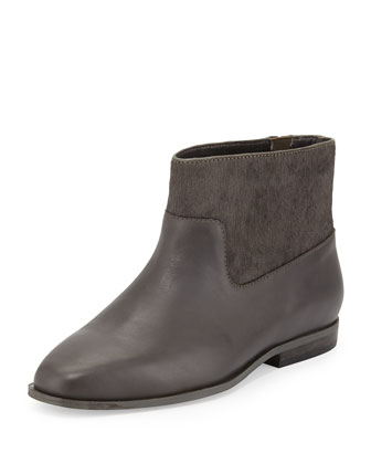 Trinket Calf Hair Ankle Boot, Slate