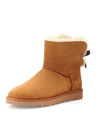 Mini Bailey Bow-Back Boot, Chestnut