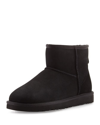 Mini Classic Shearling Boot, Black