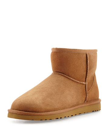 Mini Classic Shearling Boot, Chestnut