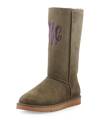 Monogrammed Classic Tall Boot, Forest Night