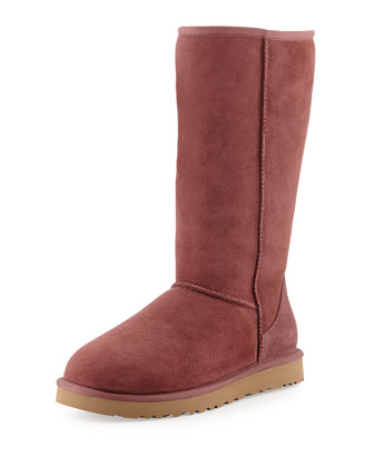 Monogrammed Classic Tall Boot, Plum Wine