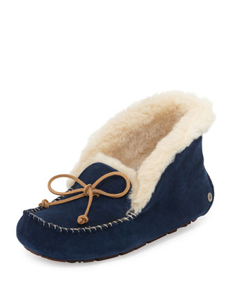 Alena Collared-Tie Slipper, Midnight