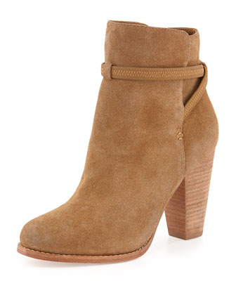 Rigby Suede Crisscross Ankle Bootie, Dune