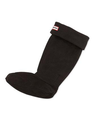 Fleece Welly Socks, Black