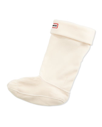 Fleece Welly Socks, Cream
