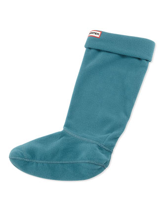 Fleece Welly Socks, Peacock