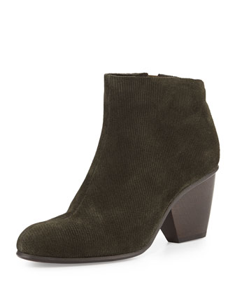 Dore Corded Suede Ankle Boot