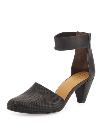 Sly Embossed Ankle-Strap Pump