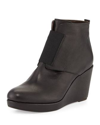 Halette Wedge Ankle Boot, Rogue Black