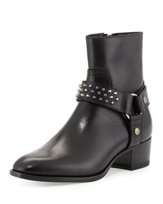Short Stud-Strap Harness Boot