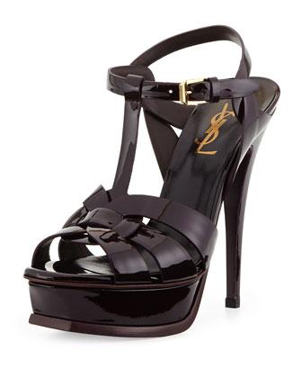 Tribute Patent Platform Sandal, Bourgogne