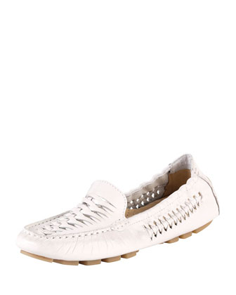 Sadie Huarache Leather Loafer, Carrera