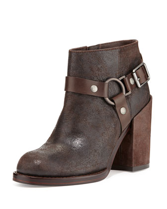 Falcon Ring-Strap Leather Ankle Boot, Tmoro