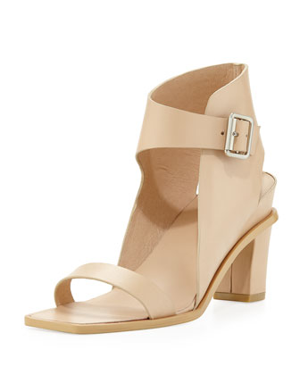 Celest Leather City Sandal, Natural