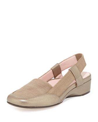Kamille Linen Slingback Sandal, Quartz