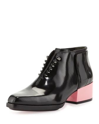 Runway Newton Leather Chelsea Bootie, Black