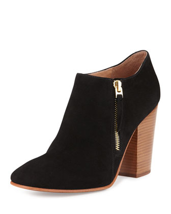 Palika Suede Ankle Boot, Nero Black