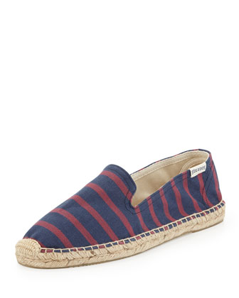 Striped Espadrille Loafer, Navy/Red