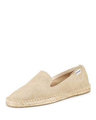 Suede Espadrille Loafer, Soft Sand