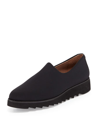 Belfast Stretch Crepe Slip-On, Black