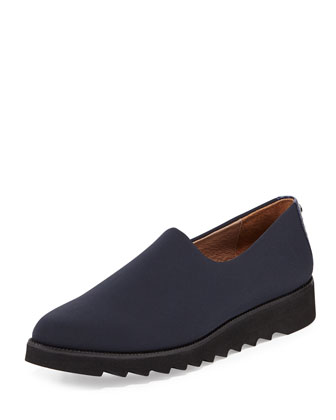 Belfast Stretch Crepe Slip-On, Navy