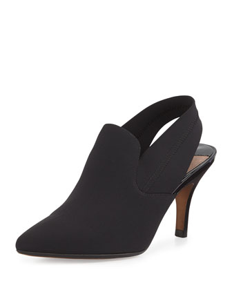 Time Crepe Slingback Boot, Black