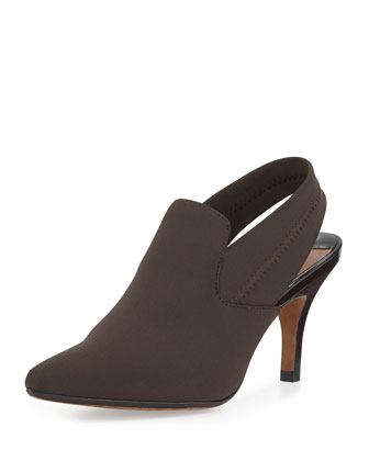 Time Crepe Slingback Boot, Espresso