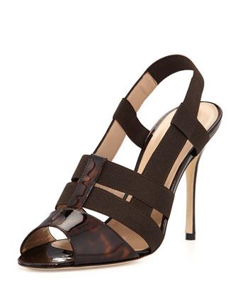 Tass Patent Slingback Sandal, Tortoise