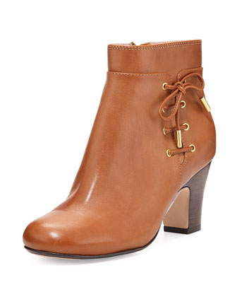 Terrie Side-Laced Bootie, Tan