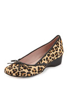 Karumba Leopard-Print Calf Hair Ballerina