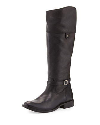 Shirley Rivet Tall Boot, Black