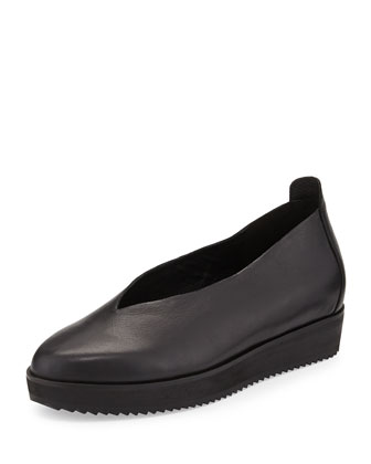 Canoe 2 Leather Slip-On, Black