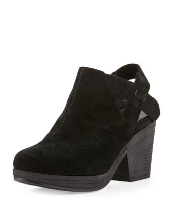 Grip Suede Clog, Black